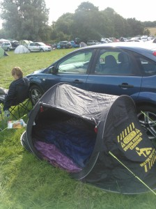 Last year's TR24. This time we have a bigger tent and a bigger car. Living it up.