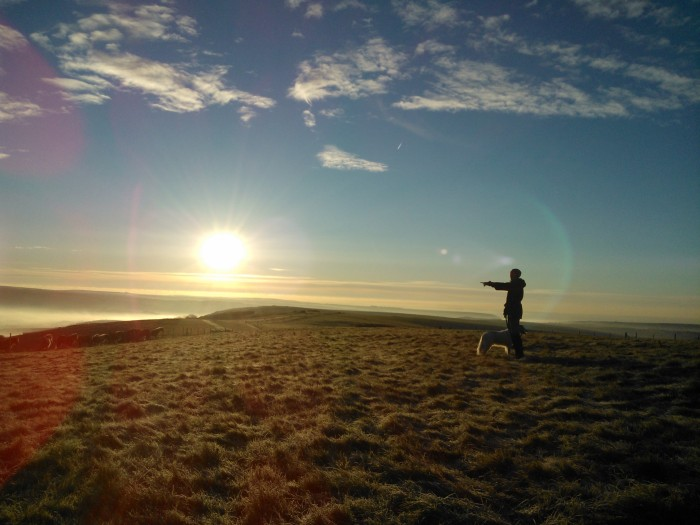 High on the South Downs at dawn. This is why we run.